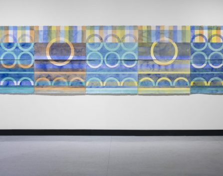 Pine River Quilt, 2017, wc on Arches, 140 cm x 508cm, Pine Rivers Gallery.